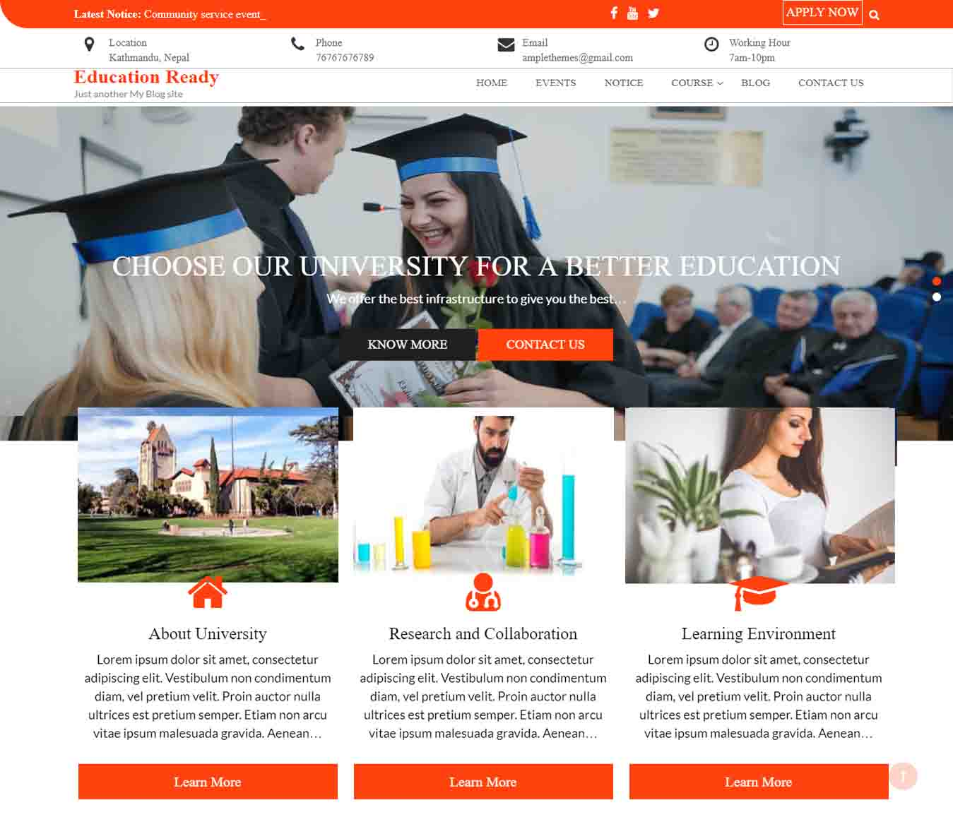 Education Ready Preview Wordpress Theme - Rating, Reviews, Preview, Demo & Download