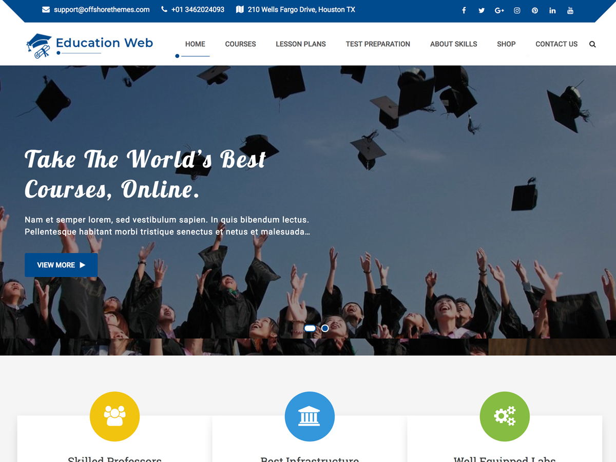 Education Web Preview Wordpress Theme - Rating, Reviews, Preview, Demo & Download