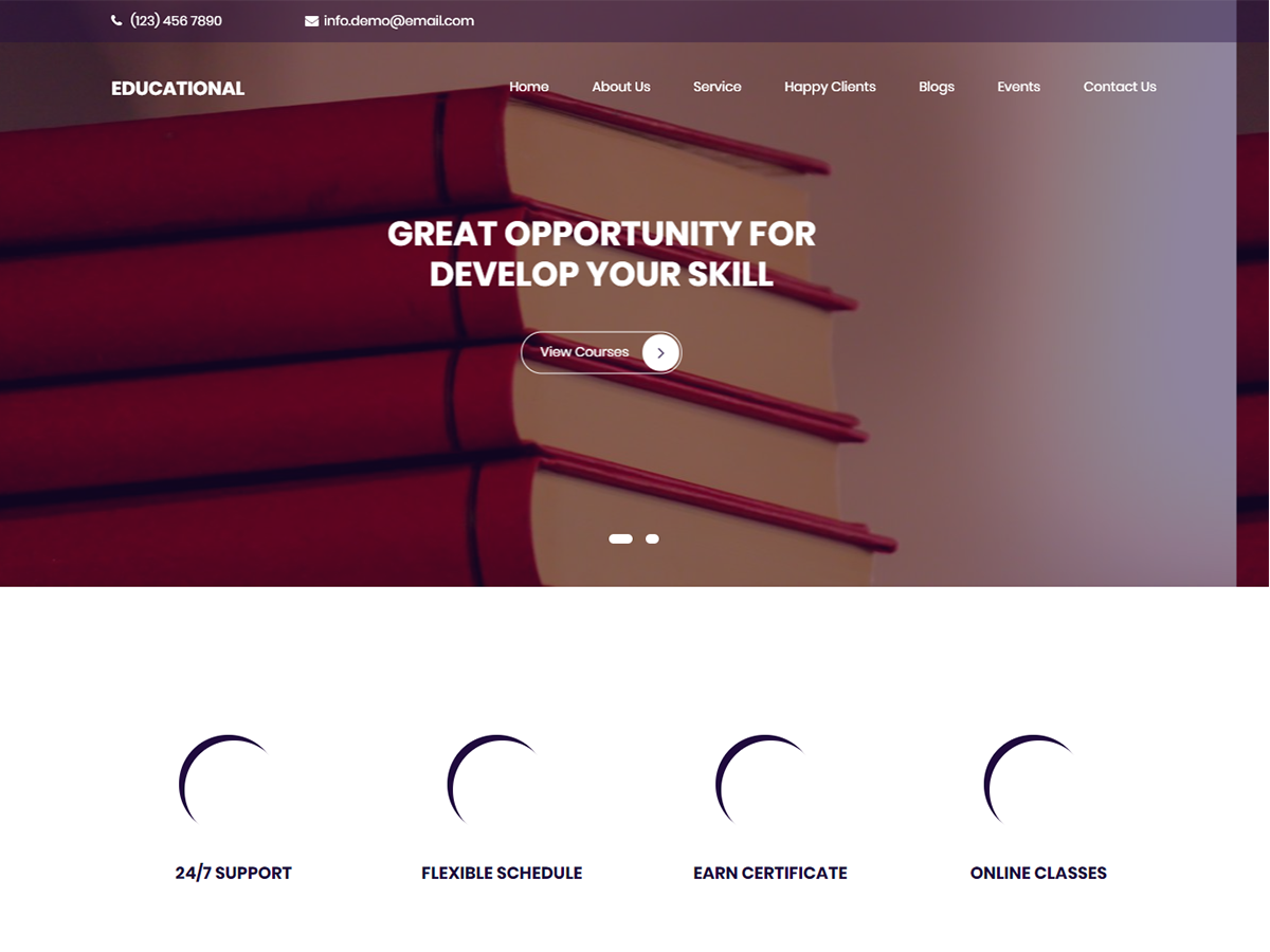Educational Preview Wordpress Theme - Rating, Reviews, Preview, Demo & Download