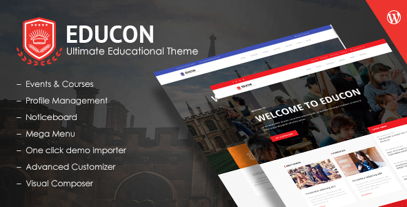 Educon Preview Wordpress Theme - Rating, Reviews, Preview, Demo & Download