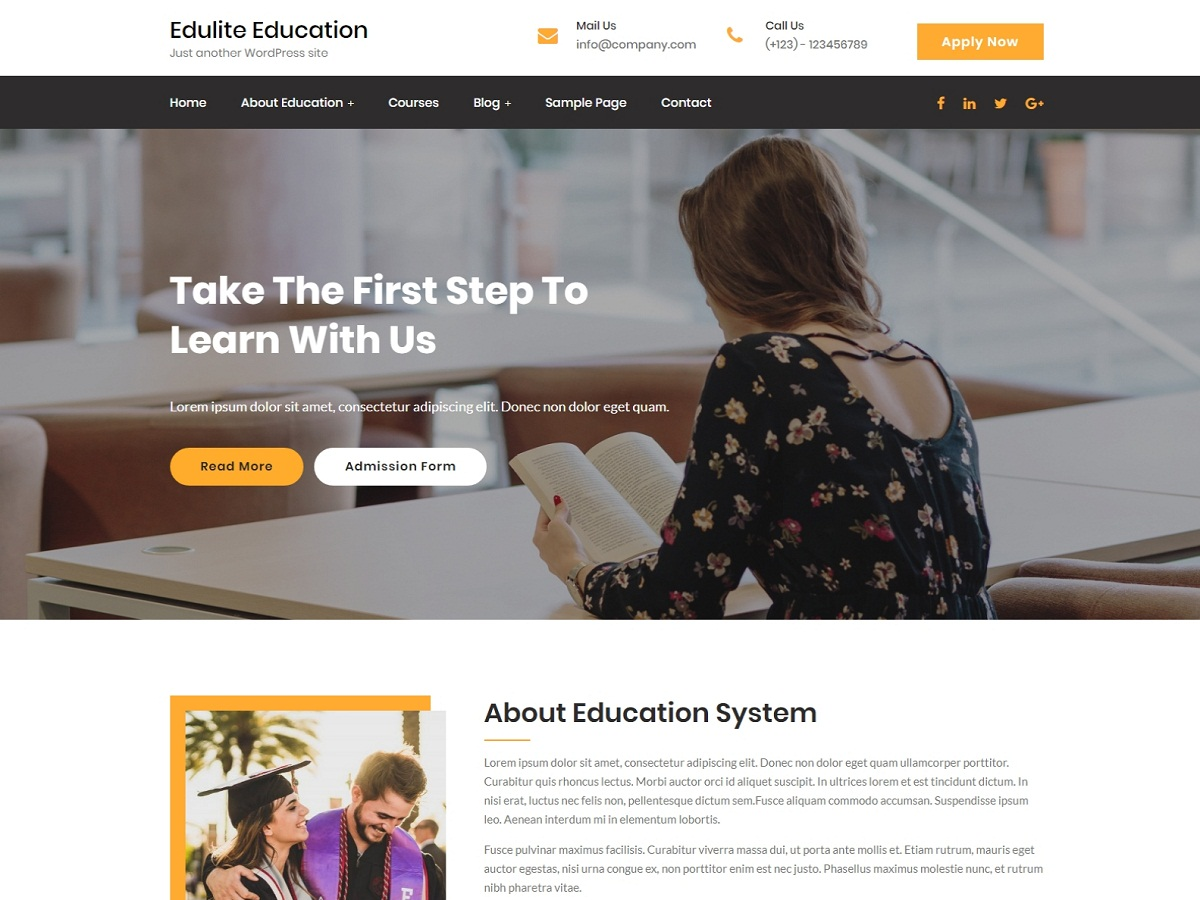 Edulite Preview Wordpress Theme - Rating, Reviews, Preview, Demo & Download
