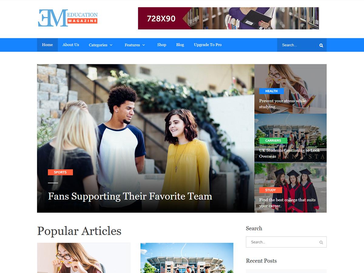 EduMag Preview Wordpress Theme - Rating, Reviews, Preview, Demo & Download