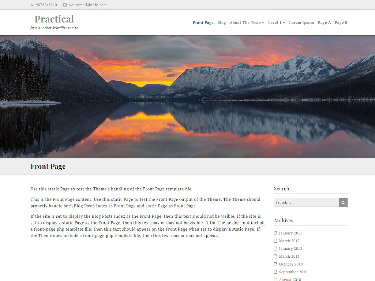 Ef Practical Preview Wordpress Theme - Rating, Reviews, Preview, Demo & Download