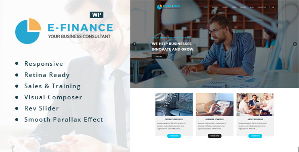 Efinance Preview Wordpress Theme - Rating, Reviews, Preview, Demo & Download
