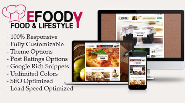 Efoody Preview Wordpress Theme - Rating, Reviews, Preview, Demo & Download