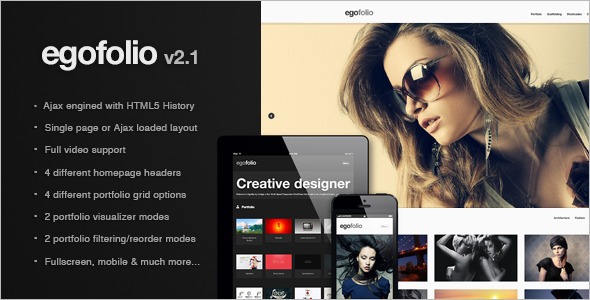 Egofolio Preview Wordpress Theme - Rating, Reviews, Preview, Demo & Download