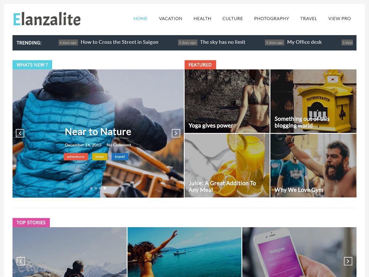 ElanzaLite Preview Wordpress Theme - Rating, Reviews, Preview, Demo & Download