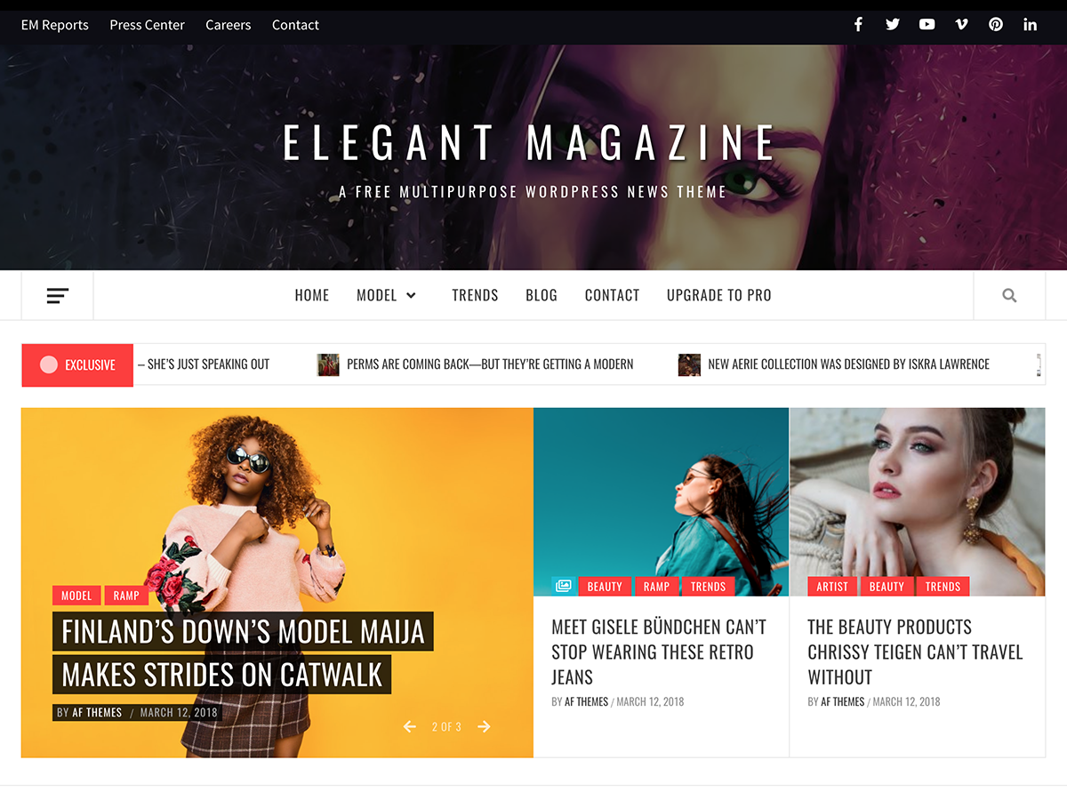 Elegant Magazine Preview Wordpress Theme - Rating, Reviews, Preview, Demo & Download