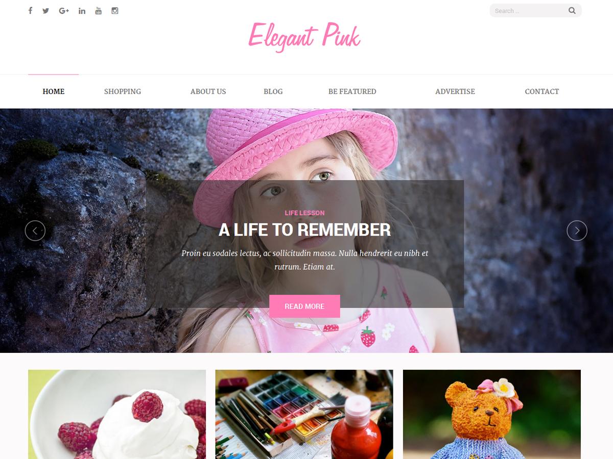 Elegant Pink Preview Wordpress Theme - Rating, Reviews, Preview, Demo & Download