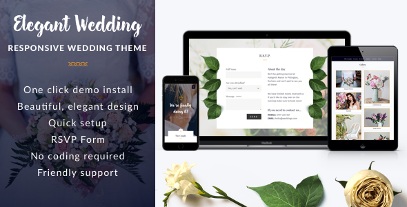 Elegant Wedding Preview Wordpress Theme - Rating, Reviews, Preview, Demo & Download