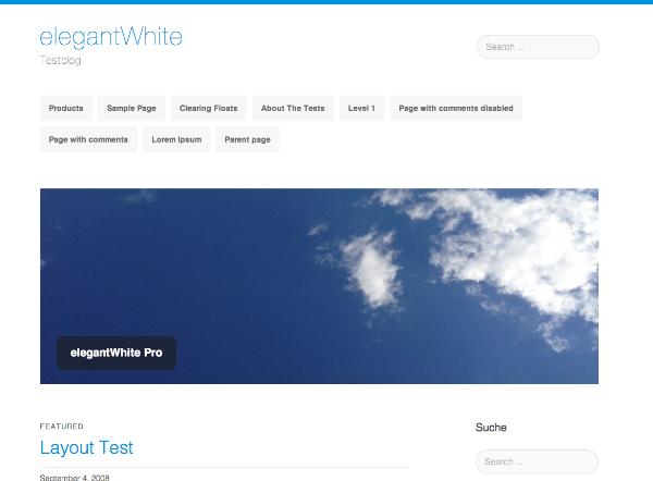 ElegantWhite Preview Wordpress Theme - Rating, Reviews, Preview, Demo & Download