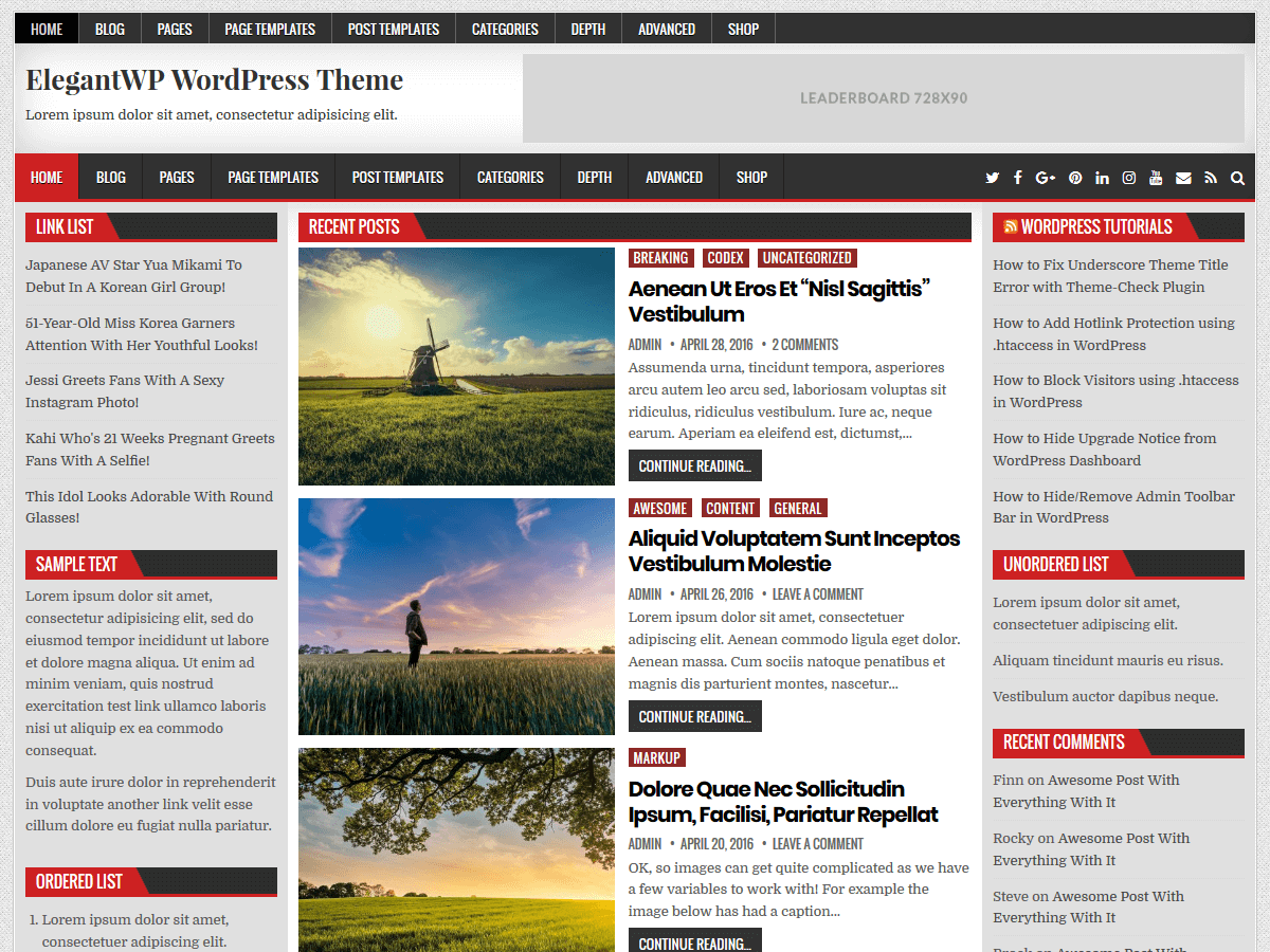 ElegantWP Preview Wordpress Theme - Rating, Reviews, Preview, Demo & Download