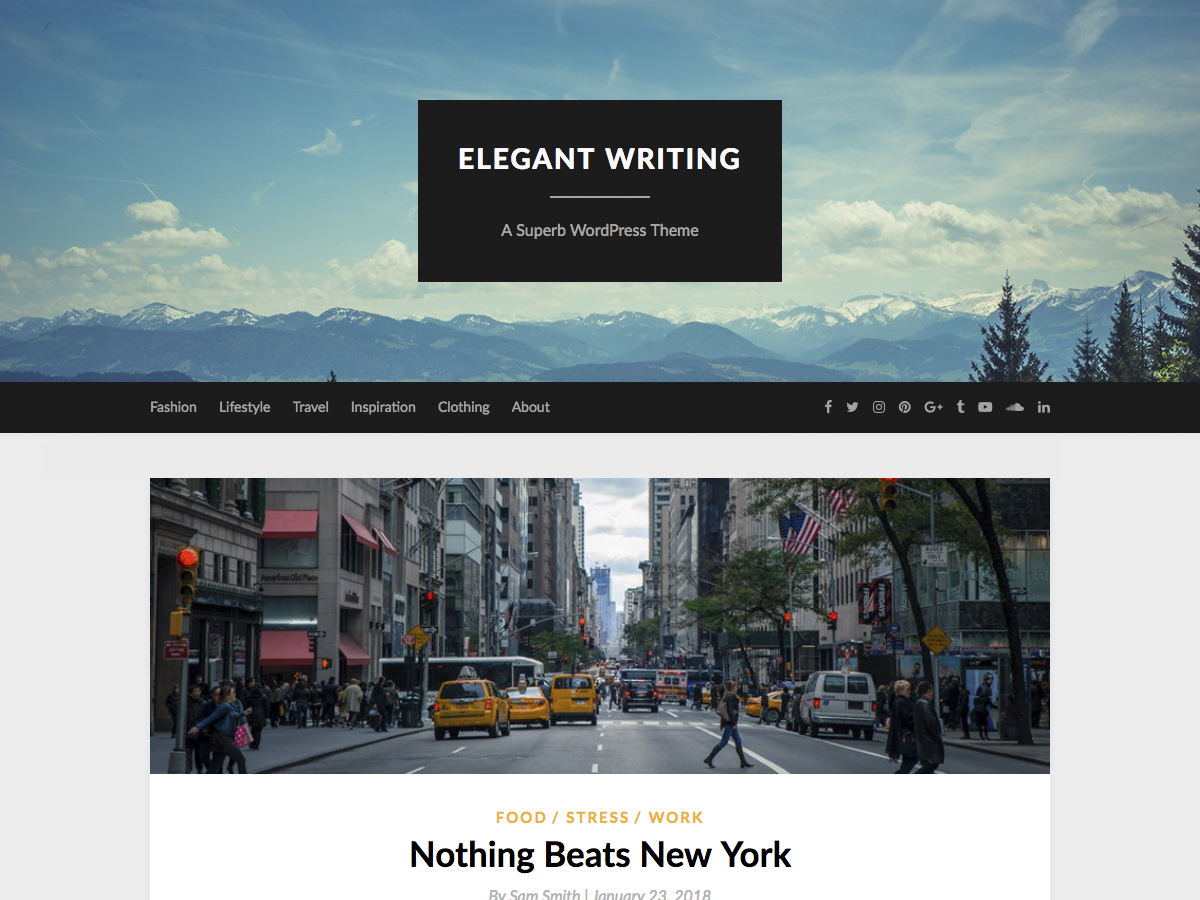 ElegantWriting Preview Wordpress Theme - Rating, Reviews, Preview, Demo & Download