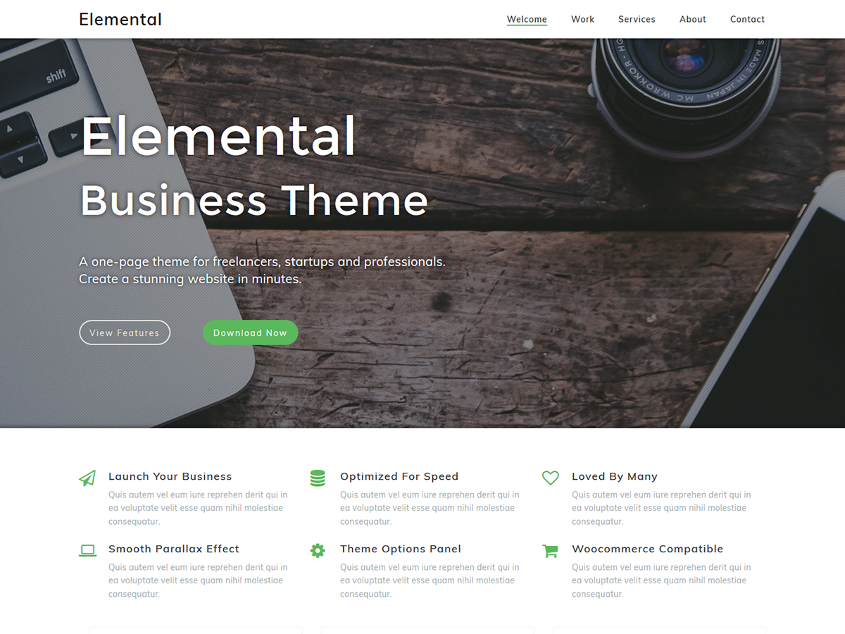 Elemental Preview Wordpress Theme - Rating, Reviews, Preview, Demo & Download