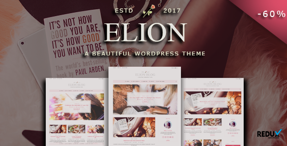Elion Preview Wordpress Theme - Rating, Reviews, Preview, Demo & Download