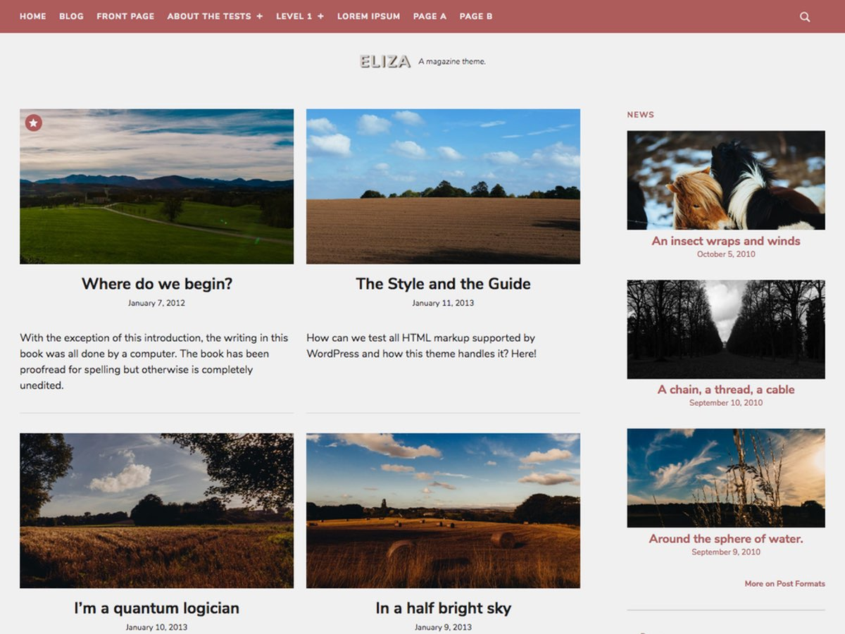 Eliza Preview Wordpress Theme - Rating, Reviews, Preview, Demo & Download