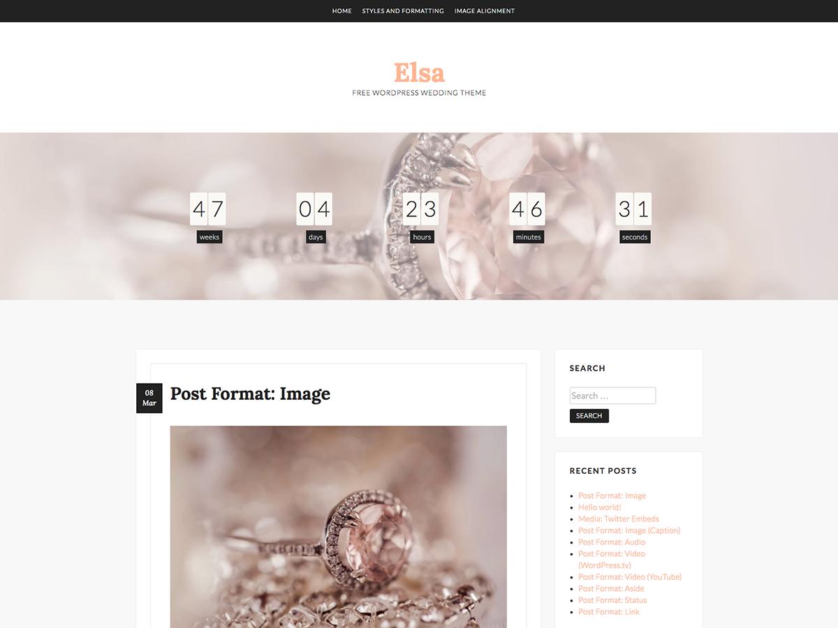 Elsa Preview Wordpress Theme - Rating, Reviews, Preview, Demo & Download