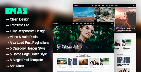 Emas Preview Wordpress Theme - Rating, Reviews, Preview, Demo & Download