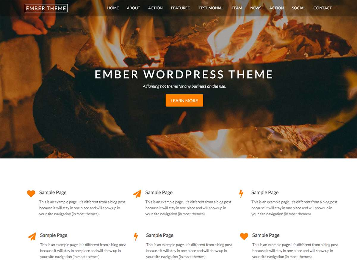 Ember Preview Wordpress Theme - Rating, Reviews, Preview, Demo & Download