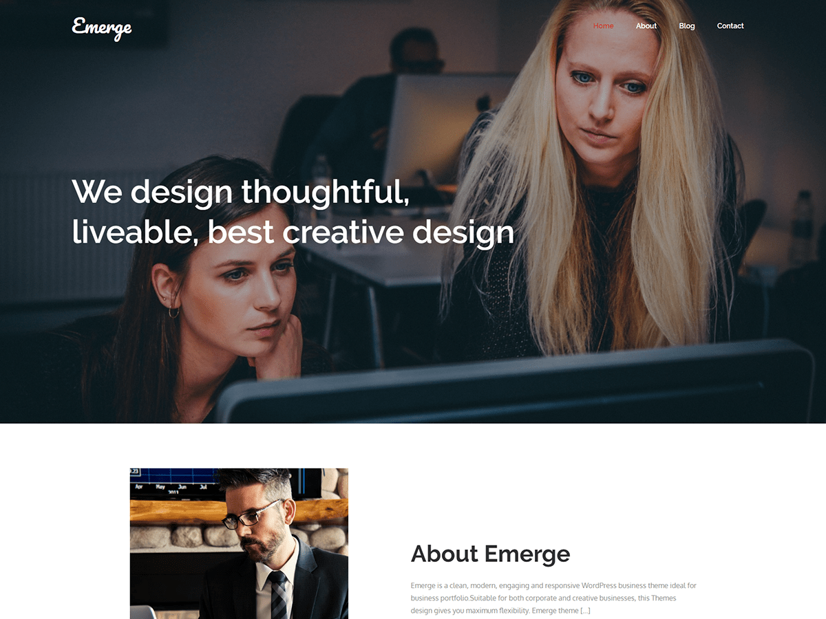 Emerge Preview Wordpress Theme - Rating, Reviews, Preview, Demo & Download