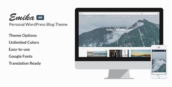 Emika Preview Wordpress Theme - Rating, Reviews, Preview, Demo & Download