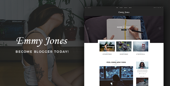 Emmy Jones Preview Wordpress Theme - Rating, Reviews, Preview, Demo & Download