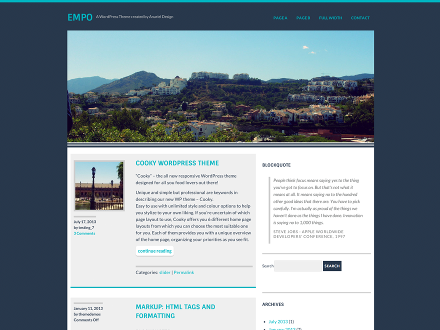 Empo Preview Wordpress Theme - Rating, Reviews, Preview, Demo & Download