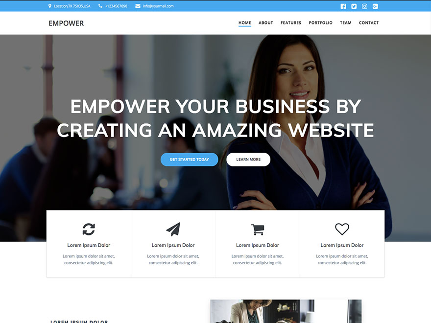 EmpowerWP Preview Wordpress Theme - Rating, Reviews, Preview, Demo & Download
