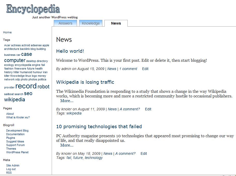 Encyclopedia Preview Wordpress Theme - Rating, Reviews, Preview, Demo & Download