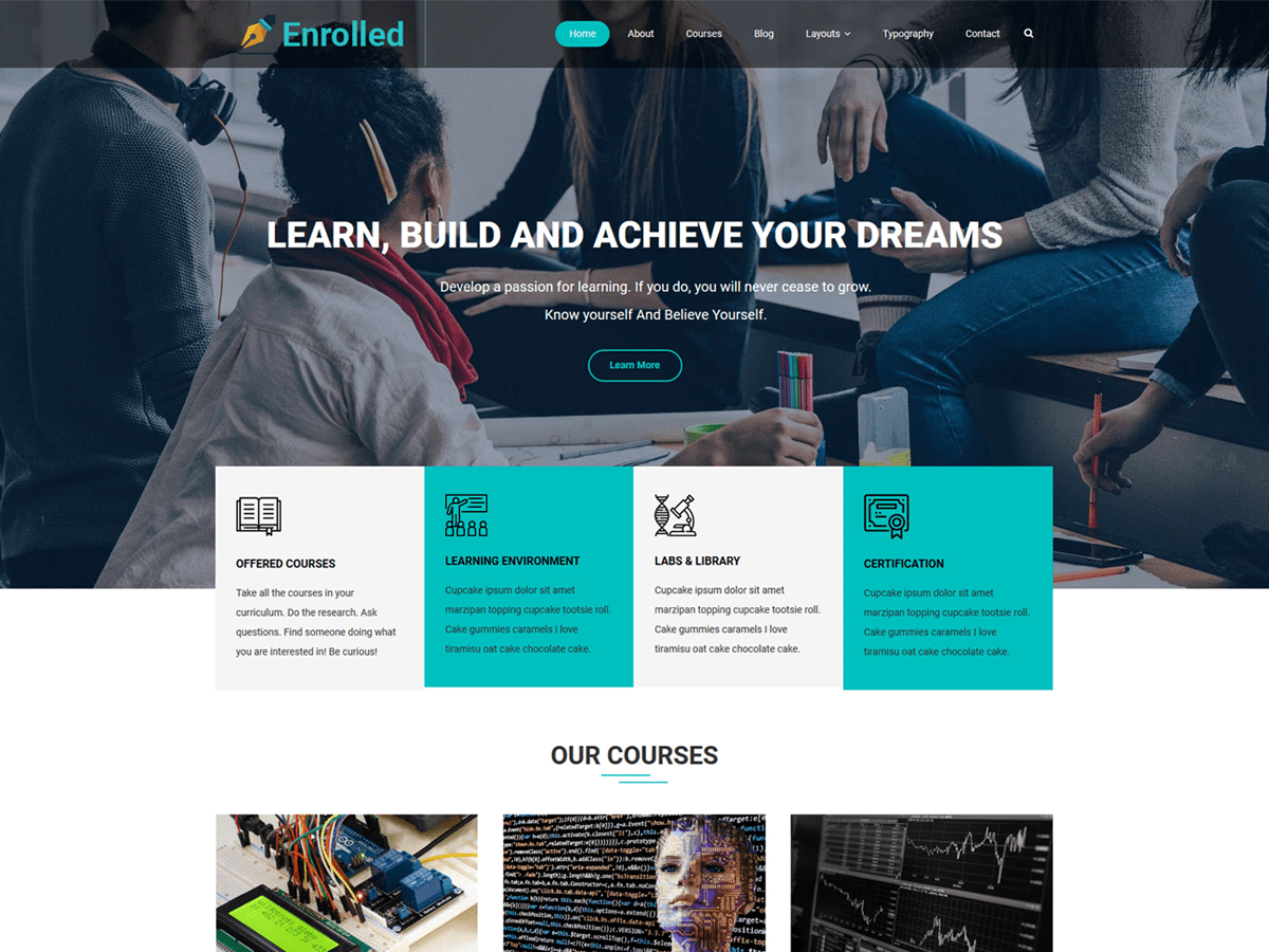 Enrolled Preview Wordpress Theme - Rating, Reviews, Preview, Demo & Download
