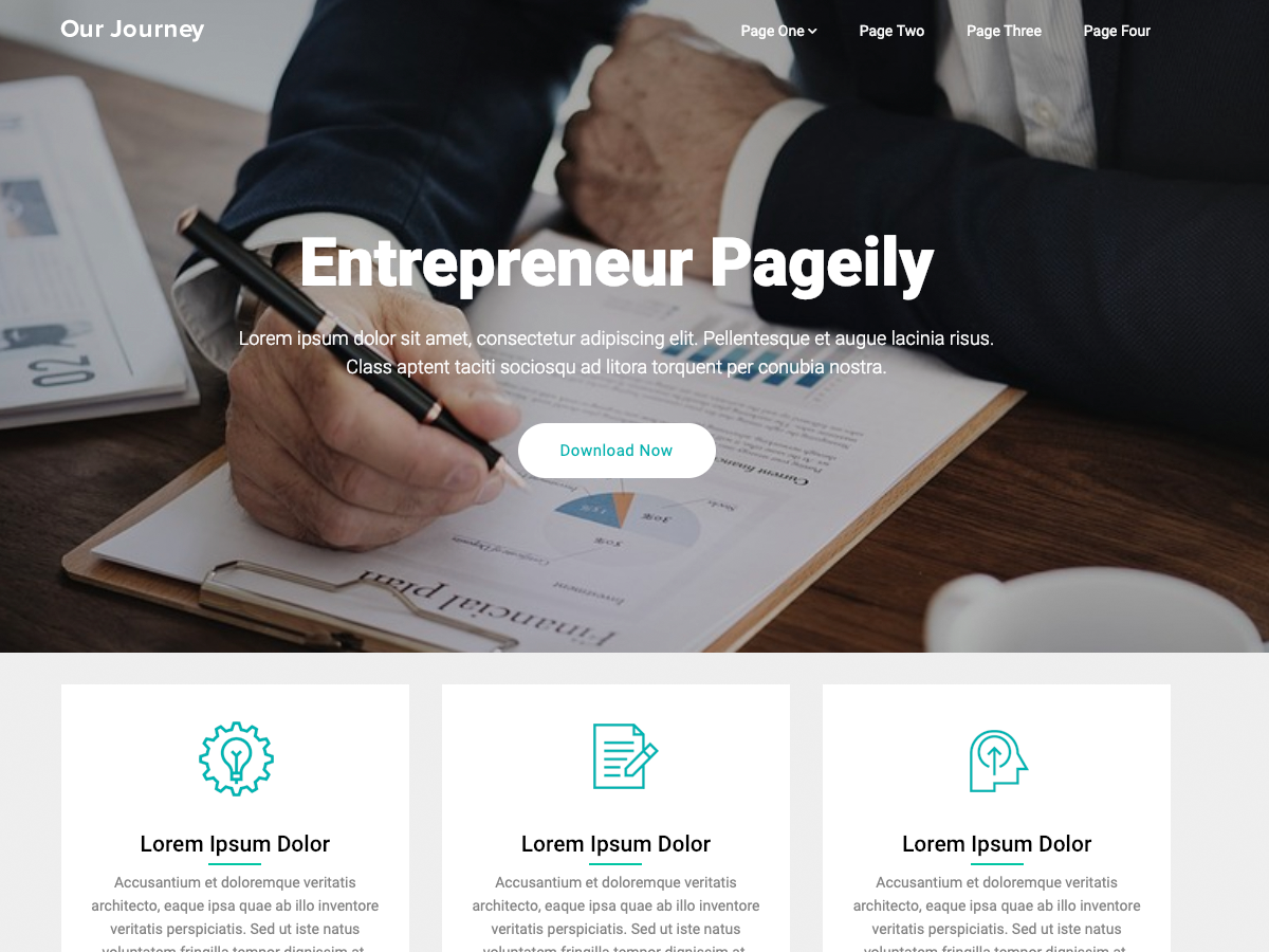 Entrepreneur Pageily Preview Wordpress Theme - Rating, Reviews, Preview, Demo & Download