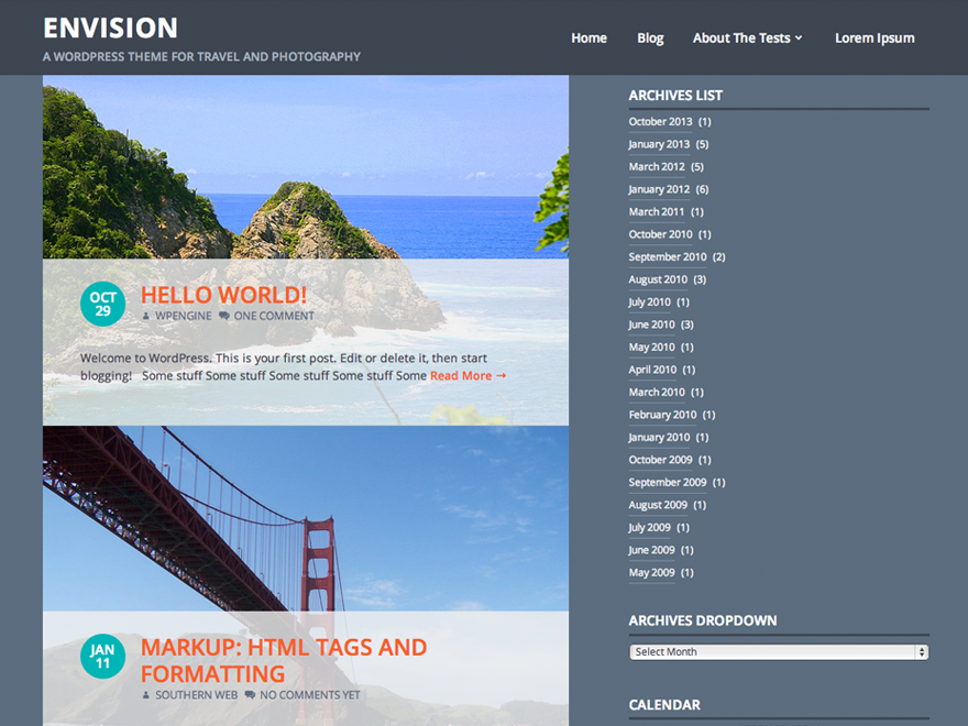 Envision Preview Wordpress Theme - Rating, Reviews, Preview, Demo & Download