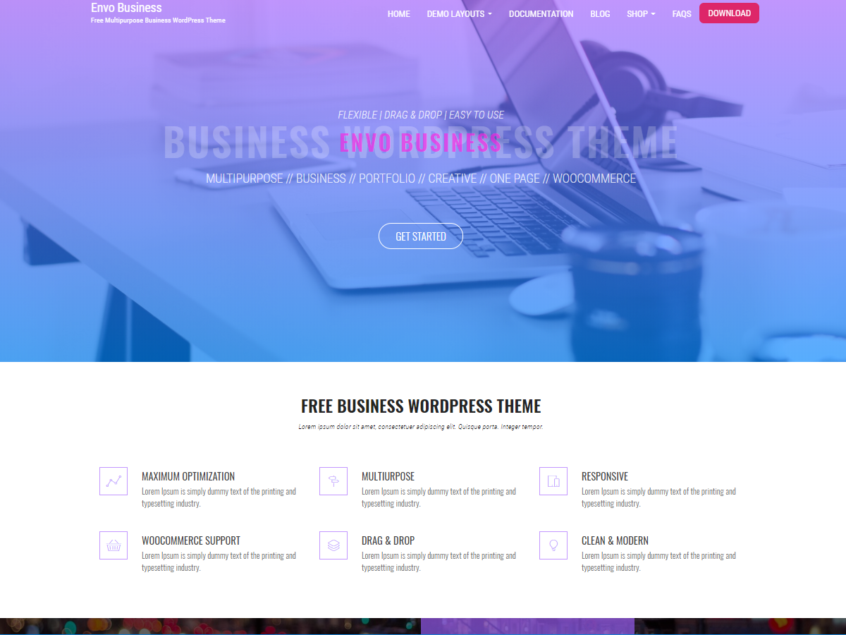 Envo Business Preview Wordpress Theme - Rating, Reviews, Preview, Demo & Download