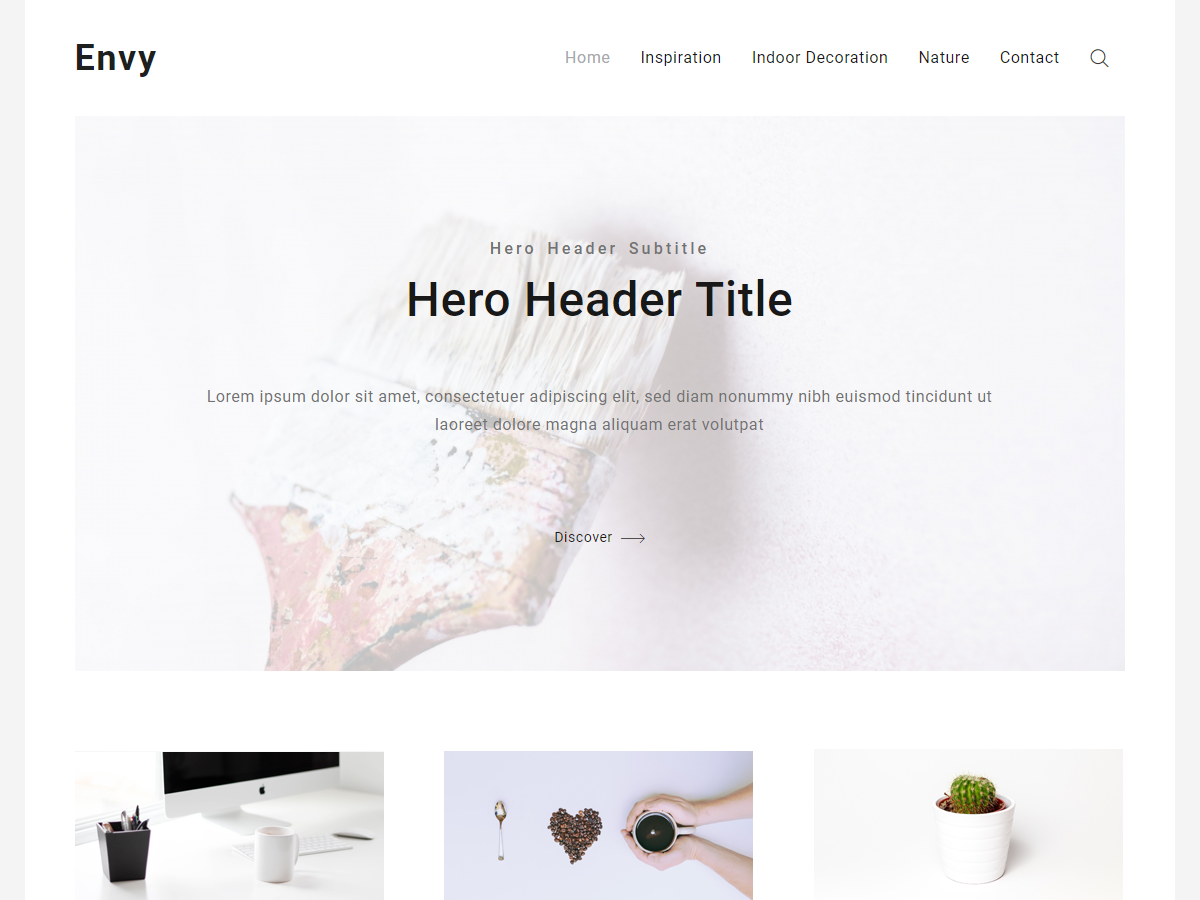 Envy Blog Preview Wordpress Theme - Rating, Reviews, Preview, Demo & Download