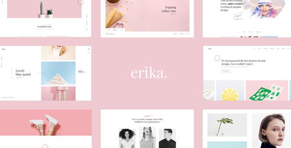 Erika Minimal Preview Wordpress Theme - Rating, Reviews, Preview, Demo & Download
