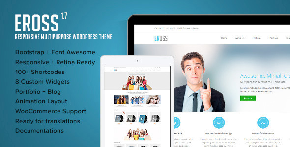 Eross Preview Wordpress Theme - Rating, Reviews, Preview, Demo & Download