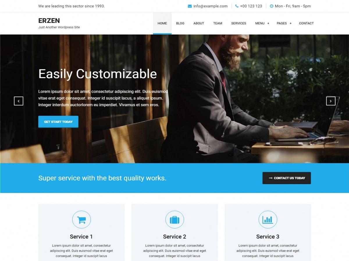 Erzen Preview Wordpress Theme - Rating, Reviews, Preview, Demo & Download