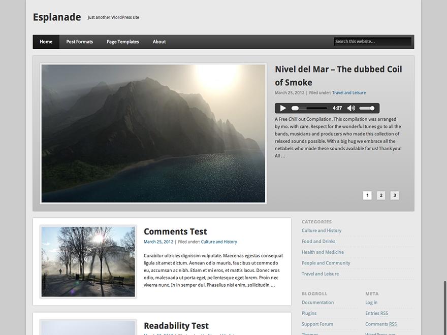 Esplanade Preview Wordpress Theme - Rating, Reviews, Preview, Demo & Download