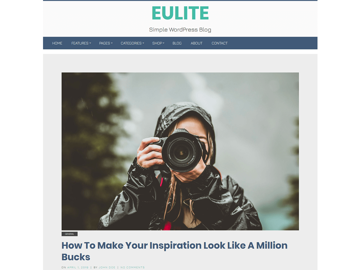 Eulite Preview Wordpress Theme - Rating, Reviews, Preview, Demo & Download