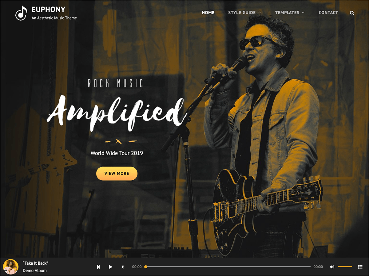 Euphony Preview Wordpress Theme - Rating, Reviews, Preview, Demo & Download