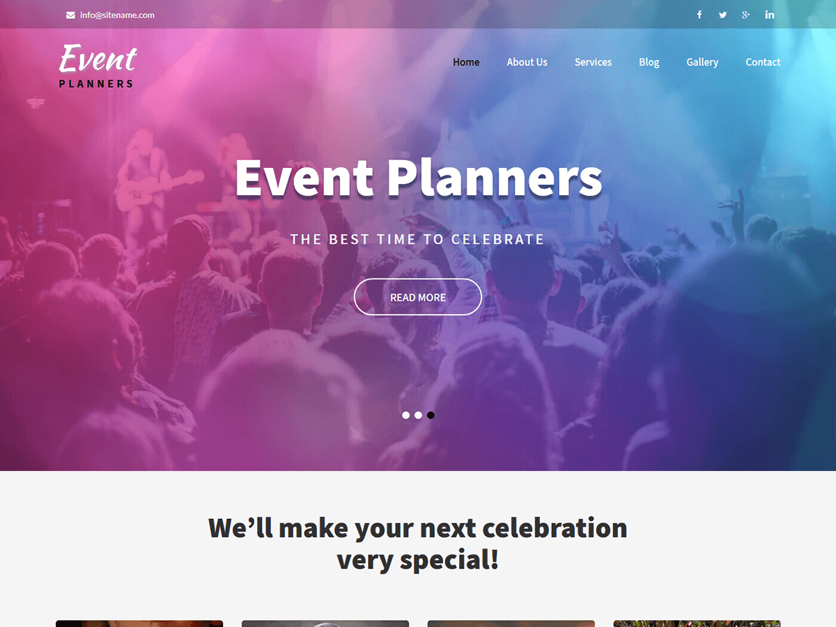 Event Planners Preview Wordpress Theme - Rating, Reviews, Preview, Demo & Download