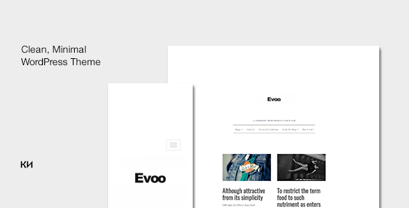 Evoo Preview Wordpress Theme - Rating, Reviews, Preview, Demo & Download