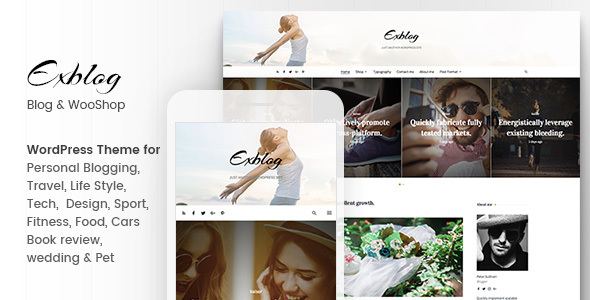 Exblog Preview Wordpress Theme - Rating, Reviews, Preview, Demo & Download