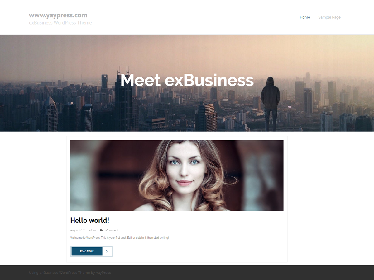 ExBusiness Preview Wordpress Theme - Rating, Reviews, Preview, Demo & Download