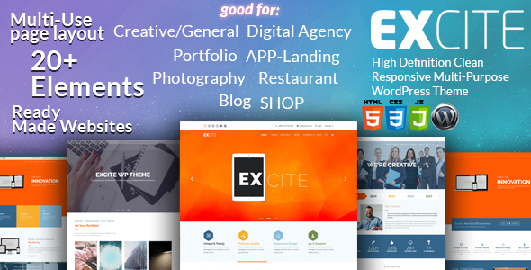 Excite Preview Wordpress Theme - Rating, Reviews, Preview, Demo & Download