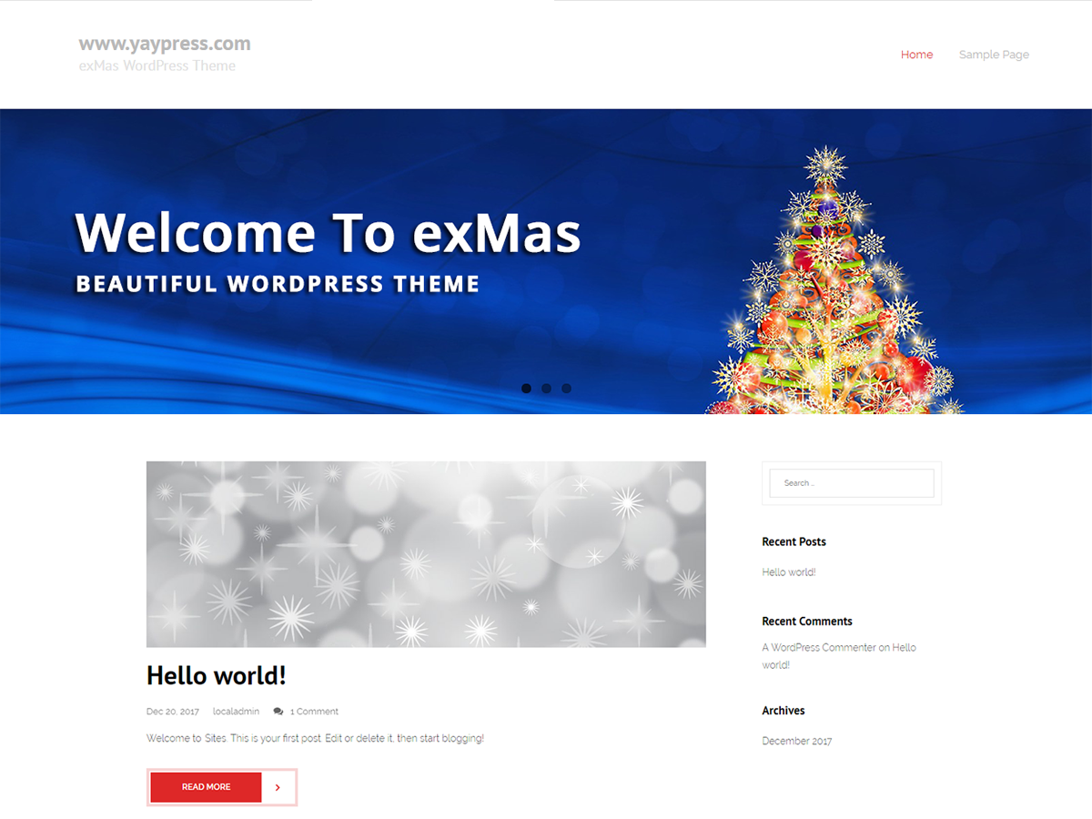ExMas Preview Wordpress Theme - Rating, Reviews, Preview, Demo & Download