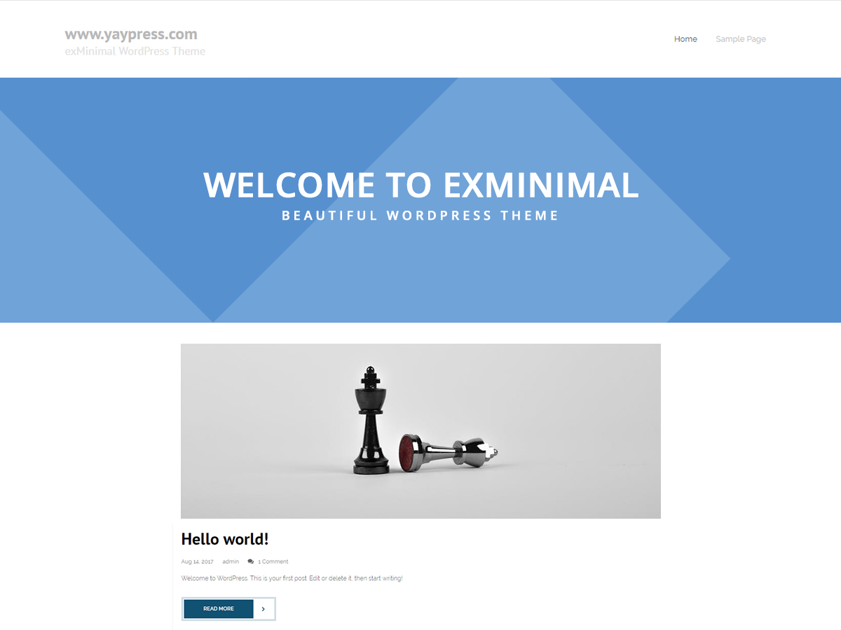 ExMinimal Preview Wordpress Theme - Rating, Reviews, Preview, Demo & Download