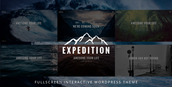 Expedition Fullscreen Preview Wordpress Theme - Rating, Reviews, Preview, Demo & Download