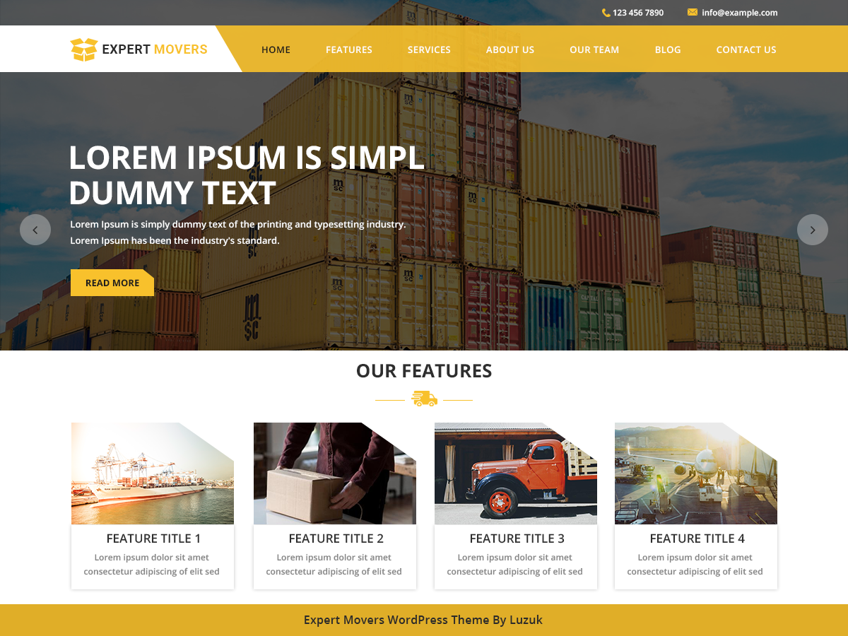 Expert Movers Preview Wordpress Theme - Rating, Reviews, Preview, Demo & Download