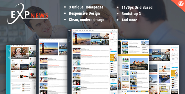ExpNews Preview Wordpress Theme - Rating, Reviews, Preview, Demo & Download